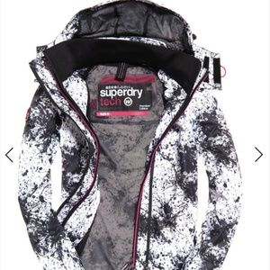 NWT Superdry Hooded Print Pop Windcheater